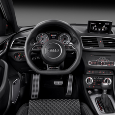The interior comes standard with Audi's MMI infotainment system with an RS mode