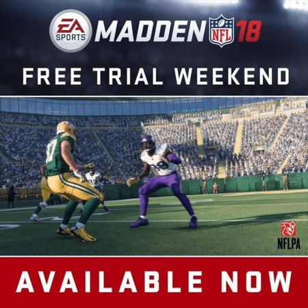 Play For Free To Madden NFL 18 Over The Weekend