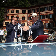 Like all the cars at the Villa d'Este Concorso d'Eleganza, the car was meticulously judged