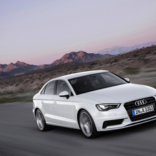 The A3 sedan went on sale this month in Europe