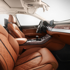 The interior is redone to be covered in high quality, furniture-quality leather