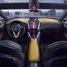 The interior of the LF-NX is still very much a concept