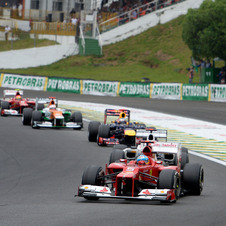 Ferrari took second in the race, driver's championship and constructor's championship