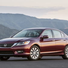 The new Accord is basically the same size as the previous car but has better fuel economy and less weight