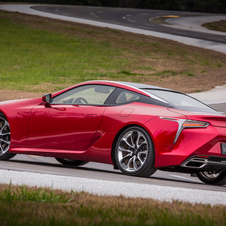 Powering the LC 500 is the same naturally aspirated 5-litre V8 found under the bonnet of both RC F and GS F