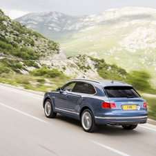 The Bentayga Diesel features some unique styling additions, including a V8 badge and a 'twin-quad' exhaust tailpipe design