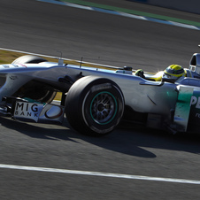 Nico Rosberg's Mercedes Fastest on Third Day of F1 Testing