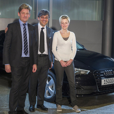 Audi's 1.5 millionth car this year was a black A3 Sportback