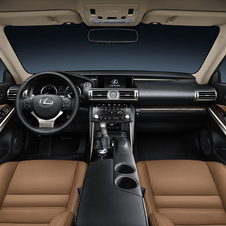 The interior also gets upgraded from the GS