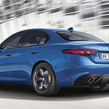 The Giulia Veloce is distinguished by a more sporty exterior and interior design