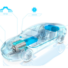The system allows the engine to run on hydrogen, gasoline or a mix of the two