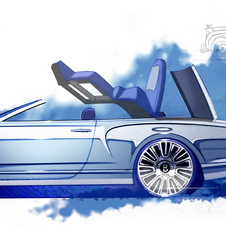 All Bentley has of the car for now are design sketches