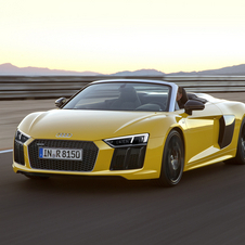 The mid-engined flagship model is 14mm shorter and 36mm wider than the previous R8 Spyder