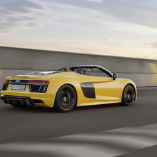Powered by the same mid-mounted, naturally aspirated 5.2-litre V10 petrol engine as the R8, the R8 Spyder has an output of 540hp