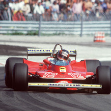 Gilles Villeneuve ao volante do 312 T4