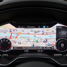 Nearly the entire center console can display the navigation map