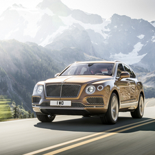 Bentley redesigned the bi-turbo W12 petrol engine with 608hp and 900Nm for the Bentayga
