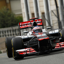 Jenson Button got out ahead of the rain to be fastest in the second session