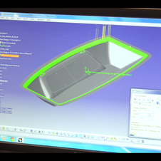 The design is first loaded into CAD software