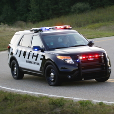 The utility outsells Ford's police sedan
