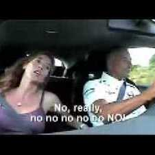 Ricardo Patrese drives his wife crazy in Honda Civic Type-R