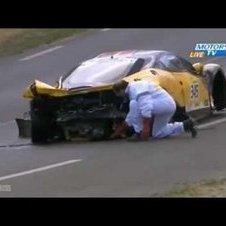 Le Mans 24 Hours 2011 - Ferrari F458 Italia Big Crash